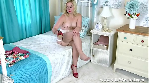Vintage, Bra, Fashion, Nylon fetish, High heel masturbation