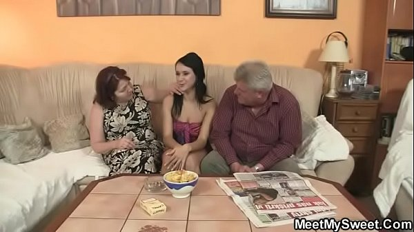 Oldman, Mature threesome, Mom and mom, Granny and girl