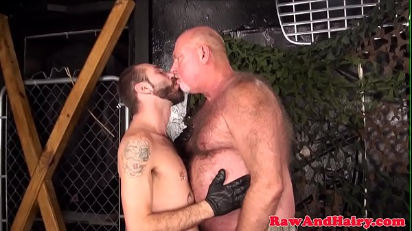 Leather, Hairy matures, Silver, Gay hairy