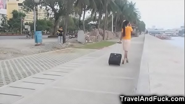 Skinny, Homemade, Asian street, Thai teen, Flight attendant, Young asian