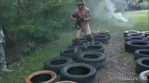 Jungle, Anal pounding, Gay group, Army